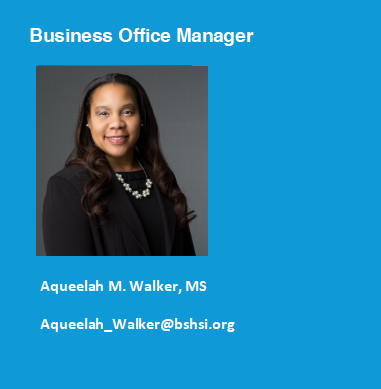 Photo of Aqueelah Walker business office manager for Bon Secours School of Medical Imaging.